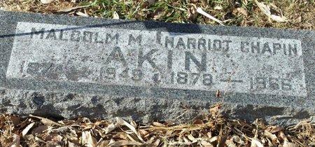 AKIN, MALCOLM M (DR.) - Fillmore County, Nebraska | MALCOLM M (DR.) AKIN - Nebraska Gravestone Photos