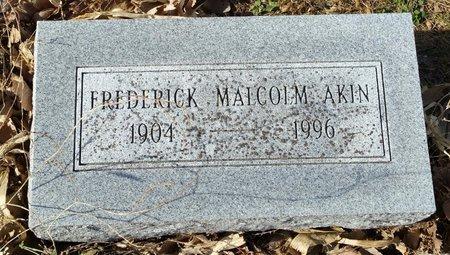 AKIN, FREDRICK MALCOLM (DR.) - Fillmore County, Nebraska   FREDRICK MALCOLM (DR.) AKIN - Nebraska Gravestone Photos