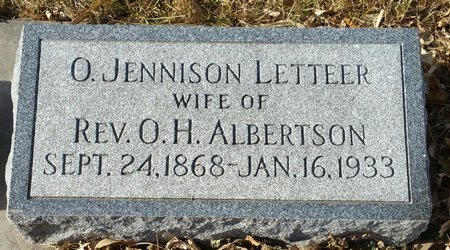 ALBERTSON, ORIOLA JENNISON - Fillmore County, Nebraska   ORIOLA JENNISON ALBERTSON - Nebraska Gravestone Photos
