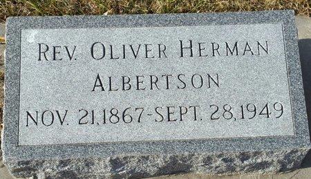 ALBERTSON, OLIVER HERMAN (REV.) - Fillmore County, Nebraska | OLIVER HERMAN (REV.) ALBERTSON - Nebraska Gravestone Photos