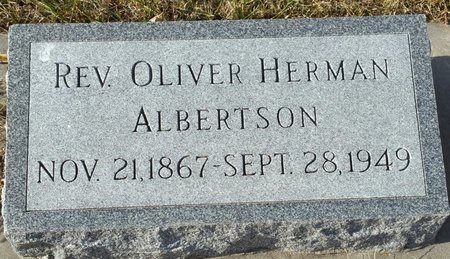 ALBERTSON, OLIVER HERMAN (REV.) - Fillmore County, Nebraska | OLIVER HERMAN (REV.) ALBERTSON - Nebraska Gravestone Photos