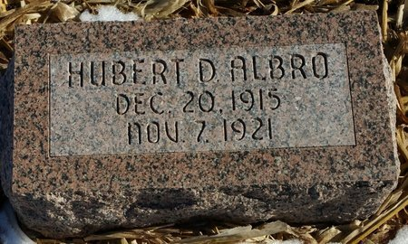 ALBRO, HUBERT DONALD - Fillmore County, Nebraska | HUBERT DONALD ALBRO - Nebraska Gravestone Photos