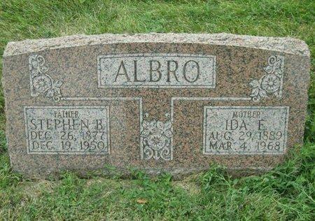 ALBRO, IDA ELIZABETH - Fillmore County, Nebraska | IDA ELIZABETH ALBRO - Nebraska Gravestone Photos