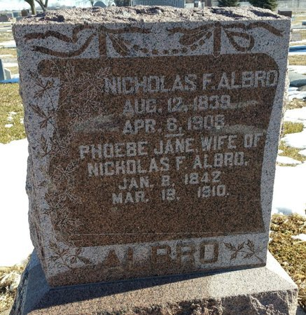 ALBRO, PHEBE JANE - Fillmore County, Nebraska | PHEBE JANE ALBRO - Nebraska Gravestone Photos