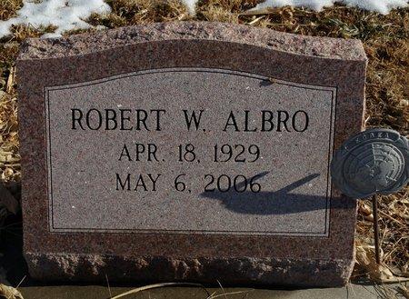 ALBRO, ROBERT W - Fillmore County, Nebraska | ROBERT W ALBRO - Nebraska Gravestone Photos