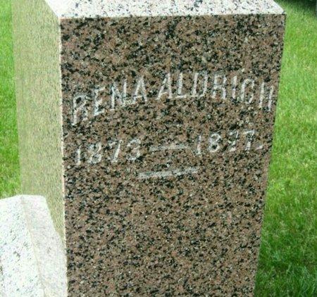 ALDRICH, RENA ALURICH - Fillmore County, Nebraska | RENA ALURICH ALDRICH - Nebraska Gravestone Photos