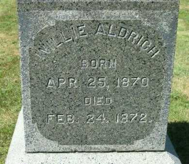 ALDRICH, WILLIE - Fillmore County, Nebraska   WILLIE ALDRICH - Nebraska Gravestone Photos