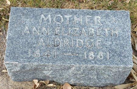 ALDRIDGE, ANNA ELIZABETH - Fillmore County, Nebraska | ANNA ELIZABETH ALDRIDGE - Nebraska Gravestone Photos