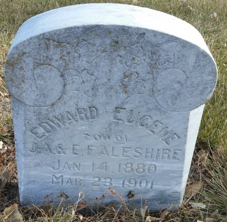 ALESHIRE, EDWARD EUGENE - Fillmore County, Nebraska   EDWARD EUGENE ALESHIRE - Nebraska Gravestone Photos