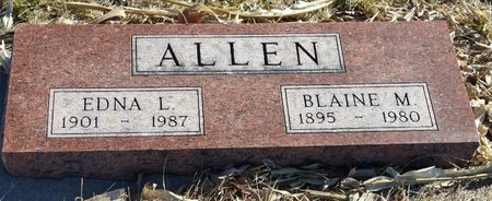 ALLEN, EDNA LUCIA - Fillmore County, Nebraska | EDNA LUCIA ALLEN - Nebraska Gravestone Photos