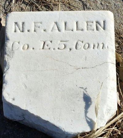 ALLEN, NELSON FOSTER - Fillmore County, Nebraska | NELSON FOSTER ALLEN - Nebraska Gravestone Photos