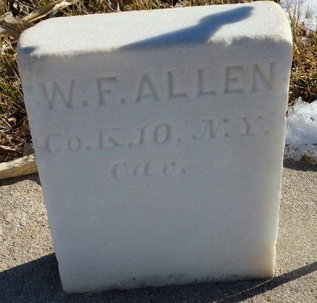 ALLEN, WILLIAM F - Fillmore County, Nebraska | WILLIAM F ALLEN - Nebraska Gravestone Photos