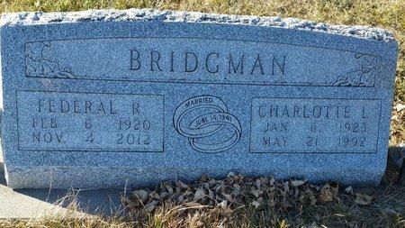 ALBRO BRIDGMAN, CHARLOTTE - Fillmore County, Nebraska | CHARLOTTE ALBRO BRIDGMAN - Nebraska Gravestone Photos