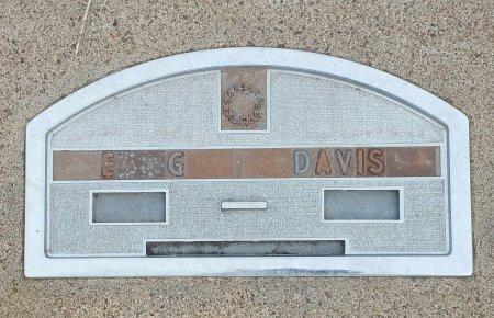 DAVIS, E G - Fillmore County, Nebraska   E G DAVIS - Nebraska Gravestone Photos