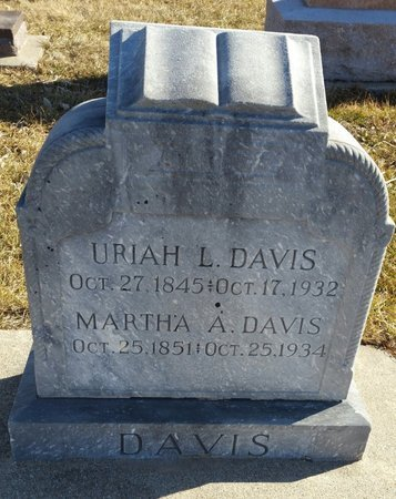 FOSTER DAVIS, MARTHA A - Fillmore County, Nebraska | MARTHA A FOSTER DAVIS - Nebraska Gravestone Photos