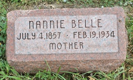 DAVIS, NANNIE BELLE - Fillmore County, Nebraska | NANNIE BELLE DAVIS - Nebraska Gravestone Photos