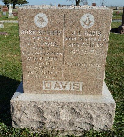 DAVIS, ROSE - Fillmore County, Nebraska | ROSE DAVIS - Nebraska Gravestone Photos