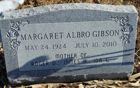 ALBRO GIBSON, MARGARET JEANETTE - Fillmore County, Nebraska | MARGARET JEANETTE ALBRO GIBSON - Nebraska Gravestone Photos