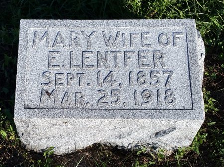 AHRENS LENTFER, MARY - Fillmore County, Nebraska | MARY AHRENS LENTFER - Nebraska Gravestone Photos