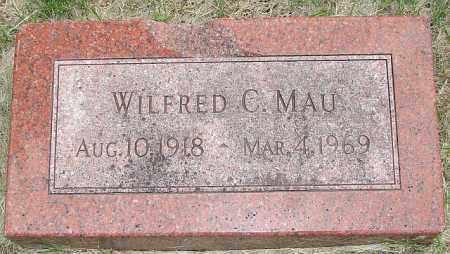 MAU, WILFRED C. - Fillmore County, Nebraska   WILFRED C. MAU - Nebraska Gravestone Photos
