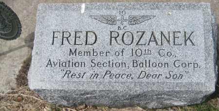 ROZANEK, FRED - Fillmore County, Nebraska | FRED ROZANEK - Nebraska Gravestone Photos