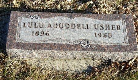 ADUDDELL USHER, LULU - Fillmore County, Nebraska | LULU ADUDDELL USHER - Nebraska Gravestone Photos
