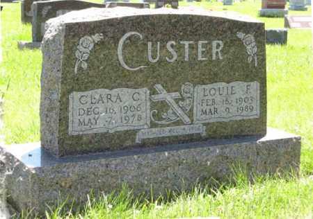 CUSTER, CLARA C. - Franklin County, Nebraska | CLARA C. CUSTER - Nebraska Gravestone Photos