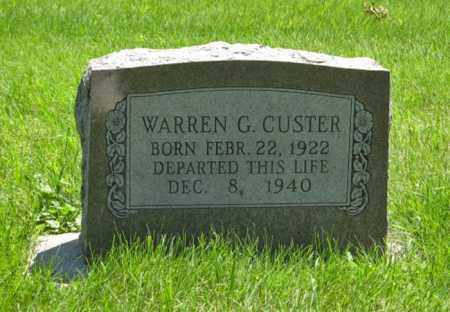 CUSTER, WARREN G. - Franklin County, Nebraska | WARREN G. CUSTER - Nebraska Gravestone Photos