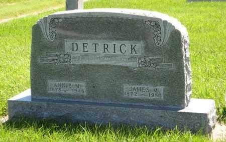 DETRICK, JAMES M. - Franklin County, Nebraska   JAMES M. DETRICK - Nebraska Gravestone Photos