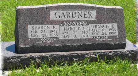 GARDNER, FRANCIS E. - Franklin County, Nebraska | FRANCIS E. GARDNER - Nebraska Gravestone Photos