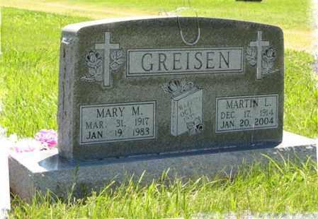 GREISEN, MARY M. - Franklin County, Nebraska   MARY M. GREISEN - Nebraska Gravestone Photos