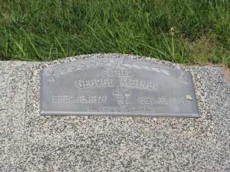 MEINER, GEORGE - Franklin County, Nebraska | GEORGE MEINER - Nebraska Gravestone Photos