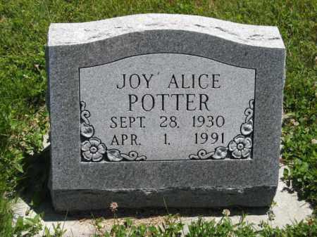 POTTER, JOY ALICE - Franklin County, Nebraska | JOY ALICE POTTER - Nebraska Gravestone Photos