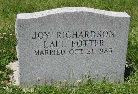 POTTER, JOY (BACK OF STONE) - Franklin County, Nebraska | JOY (BACK OF STONE) POTTER - Nebraska Gravestone Photos