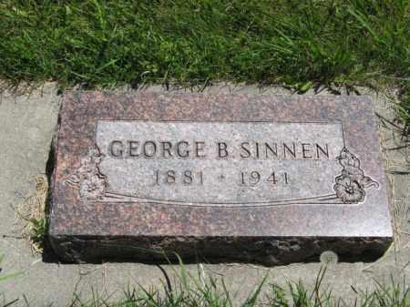 SINNEN, GEORGE B. - Franklin County, Nebraska | GEORGE B. SINNEN - Nebraska Gravestone Photos