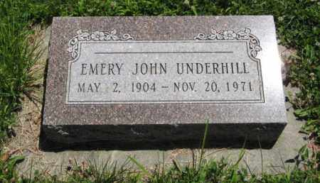 UNDERHILL, EMERY JOHN - Franklin County, Nebraska | EMERY JOHN UNDERHILL - Nebraska Gravestone Photos