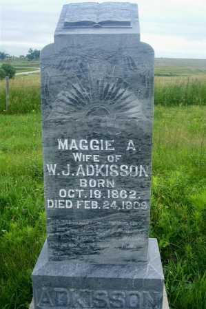 ADKISSON, MAGGIE A. - Frontier County, Nebraska | MAGGIE A. ADKISSON - Nebraska Gravestone Photos