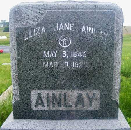 WALKER AINLAY, ELIZA JANE - Frontier County, Nebraska | ELIZA JANE WALKER AINLAY - Nebraska Gravestone Photos