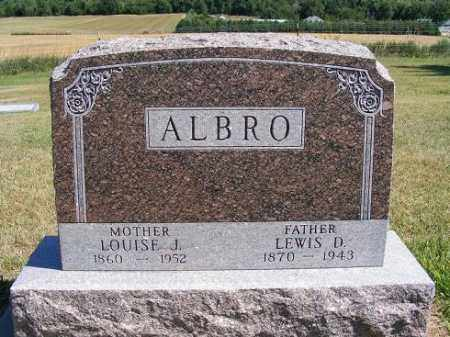 ALBRO, LOUISE J. - Frontier County, Nebraska | LOUISE J. ALBRO - Nebraska Gravestone Photos