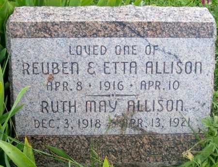 ALLISON, RUTH MAY - Frontier County, Nebraska | RUTH MAY ALLISON - Nebraska Gravestone Photos