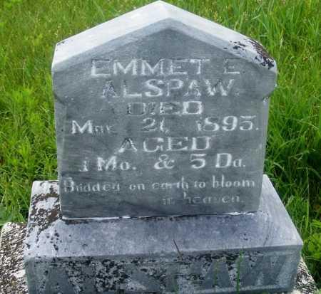ALSPAW, EMMET E. - Frontier County, Nebraska | EMMET E. ALSPAW - Nebraska Gravestone Photos