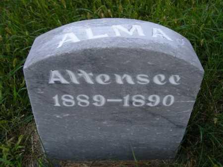 ALTENSEE, ALMA - Frontier County, Nebraska | ALMA ALTENSEE - Nebraska Gravestone Photos