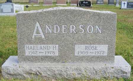 ANDERSON, ROSE - Frontier County, Nebraska | ROSE ANDERSON - Nebraska Gravestone Photos