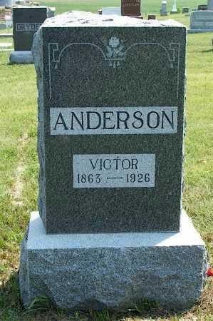 ANDERSON, VICTOR - Frontier County, Nebraska   VICTOR ANDERSON - Nebraska Gravestone Photos