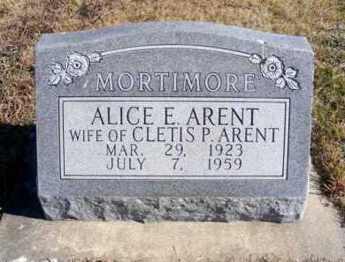 ARENT, ALICE E. - Frontier County, Nebraska   ALICE E. ARENT - Nebraska Gravestone Photos