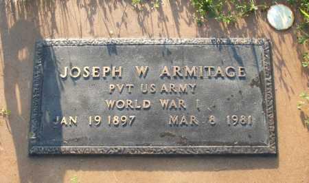 ARMITAGE, JOSEPH W. - Frontier County, Nebraska   JOSEPH W. ARMITAGE - Nebraska Gravestone Photos