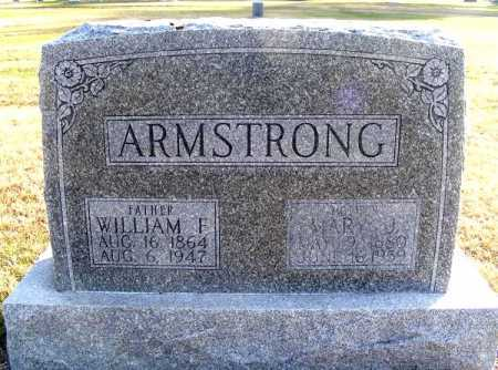 ARMSTRONG, WILLIAM F. - Frontier County, Nebraska | WILLIAM F. ARMSTRONG - Nebraska Gravestone Photos