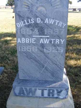 AWTRY, DILLIS D. - Frontier County, Nebraska | DILLIS D. AWTRY - Nebraska Gravestone Photos
