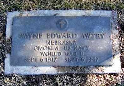 AWTRY, WAYNE EDWARD - Frontier County, Nebraska   WAYNE EDWARD AWTRY - Nebraska Gravestone Photos