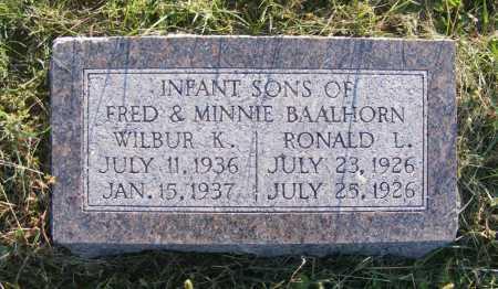 BAALHORN, WILBUR K. - Frontier County, Nebraska | WILBUR K. BAALHORN - Nebraska Gravestone Photos